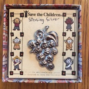 Sterling Silver Save the Children broach